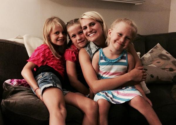 Lauren with all her Nieces
